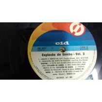 Disco Vinil Lp - Explosão Do Samba - Vol. 3 - 1974