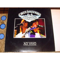 Lp Chitãozinho E Xororo - Ao Vivo (1992) C/ Encarte