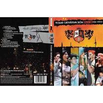 Dvd Rbd Rebelde Tour Generacion En Vivo Com Encart Original