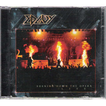 Cd Edguy - Burning Down The Opera - Live - Cd Duplo