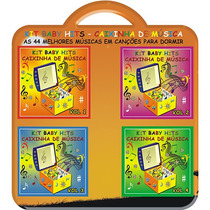 Box Kit Baby Hits Caixinha De Música Para Dormir 4 Cds