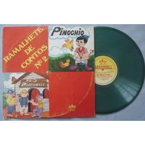 Pinochio + Os 3 Porquinhos - Lp Vinil Verde