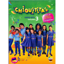 Dvd Chiquititas - Video Hits - Vol.3 - Novo ***