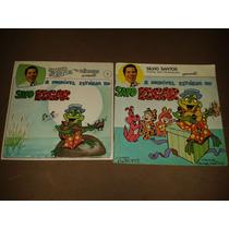 Lp + Livro Silvio Santos Para Crianças Sapo Edgar Raro