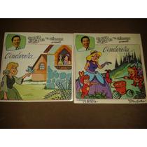 Lp + Livro Silvio Santos Para Crianças Cinderela Raro