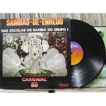 Sambas Enredo Escolas Samba Grupo Carnaval 1980 Lp Encarte