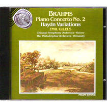 Cd Johannes Brahms - Piano Concerto Nº2 & Haydn Variations