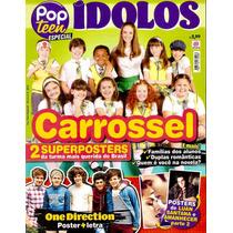 Revista Pop Teen C/ 2 Pôsters Carrossel + Luan Santana + 1d!
