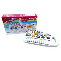 Piano Teclado Musical Infantil Sons Eletrônico Brinquedo