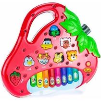 Brinquedo Piano Teclado Infantil Bichos Musical Moranguinho
