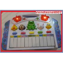 Piano Teclado Infantil Brinquedo Musical Sons Eletrônico Luz