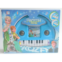 Piano Teclado Musical Infantil Frozen Sons Eletronico Luzes