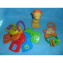 Lote De 3 Brinquedos Fisher Price Bebé...