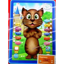 Tablet Infantil Gato Tom Inteligente Repete Fala 3d - Off!