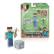 Minecraft Steve Com Picareta E Bloco - Mojang No Brasil