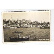 Sa16 Postal Antigo Bahia Salvador Barcos