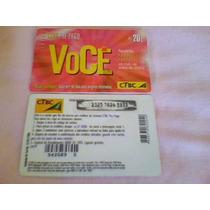 266 - Cartão Ctbc Pré-pago Você - R$ 20,00