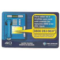 5862 Cartões Telefônicos 5 Tarjinhas Diferentes Ver Texto