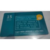 Cartão Telefônico Oi Conheça A Recarga Automática Nº 716