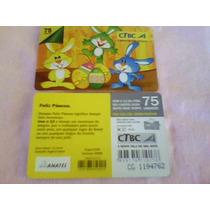 297 - Cartão Ctbc Páscoa - 75 Un - Tir. 25.000