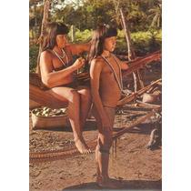 Cartão Postal Indigenas Mocinhas Iulapiti Rio Xingú Brasil.