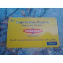 Cartão Raro Da Telefônica 10/01. Tir. 55000. Limeira Finin