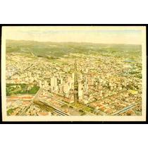 Cartão Postal Antigo Belo Horizonte Mg Vista Aerea
