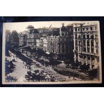 Cartão Postal Antigo Rio De Janeiro Av Rio Branco