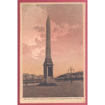 Cartão Postal Obelisco Da Avenida Rio Branco Rio De Janeiro