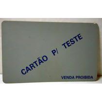 Ct - Cartão 1ºs Testes Indutivos Letras Azuis Fd. Cinza 91/2