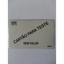 Cartão Para Teste - Abnc - Verso Cinza