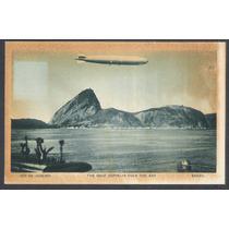 Postal, Rio De Janeiro, The Graf Zeppelin Over The Bay