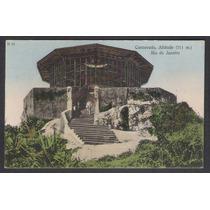 Cartão Postal Antigo Corcovado, Altitude 711m Rio De Janeiro