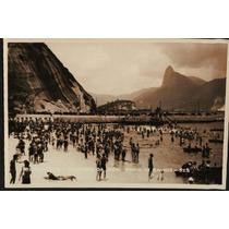 Cartão Postal Antigo Rio De Janeiro Urca Praia De Banhos