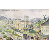 Postal Antigo, Rio De Janeiro, Avenida Rio Branco.