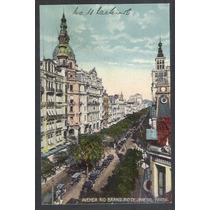 Postala Antigo Avenida Rio Branco Rio De Janeiro.