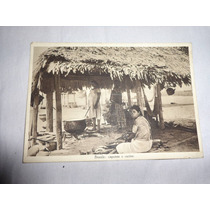 Raro Cartão Postal Brasil Capanne Cucine 1937 Padre Stimatin