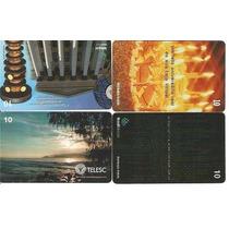 Lote Pp7 Com 04 Mídias (cartões) - Novos De 10 C Diferentes