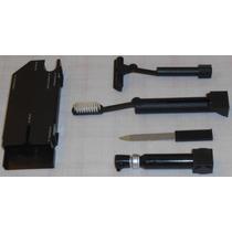 Conjunto Compacto Viagem Barbeador Escova D Dentes Lixa Unha