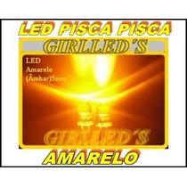 Led 5mm Pisca Pisca Amarelo (laranja) - 20 Peças = 25 Reais
