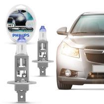 Lâmpada Philips Extreme Vision H1 3350k Luz Farol Tuning 55w