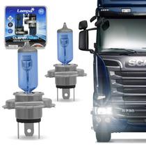 Par Lampada Super Branca H4 24v Caminhão 4300k Clear Vision