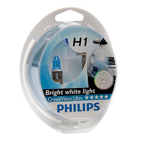 Lampada H1 Philips Crystal Vision Ultra Super Branca 4300k