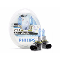 Super Brancas Lâmpadas 65w Hb4 Philips Crystral Vision Ultra