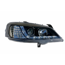 Farol Projector Drl Led Gm Astra 98/99/00/01/02 Black