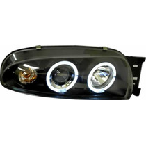 Farol Projector Angel Eyes Ford Fiesta 96/99 - G2 B -r$ Cada