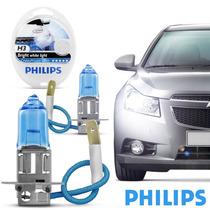 Par De Lâmpadas Philips Crystal Vision Ultra H3 Super Branc