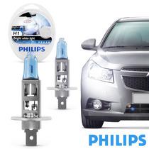Par De Lâmpadas Philips Crystal Vision Ultra H1 Super Branc