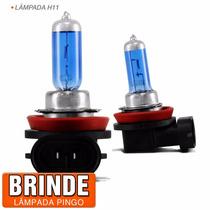 Par Lampada Super Branca H11 + Brinde Led Frete Gratis