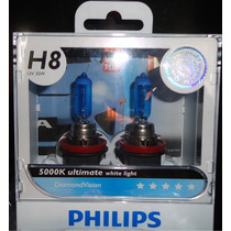 Lâmpadas Original Philips Diamond Vision H8 5000k
